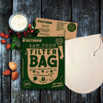 Raw Food Filter Bag - Premium Nut Milk Bag / Nussmilchbeutel von NECTARBAR