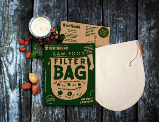 Raw Food Filter Bag - Premium Nut Milk Bag / Nussmilchbeutel von NECTARBAR