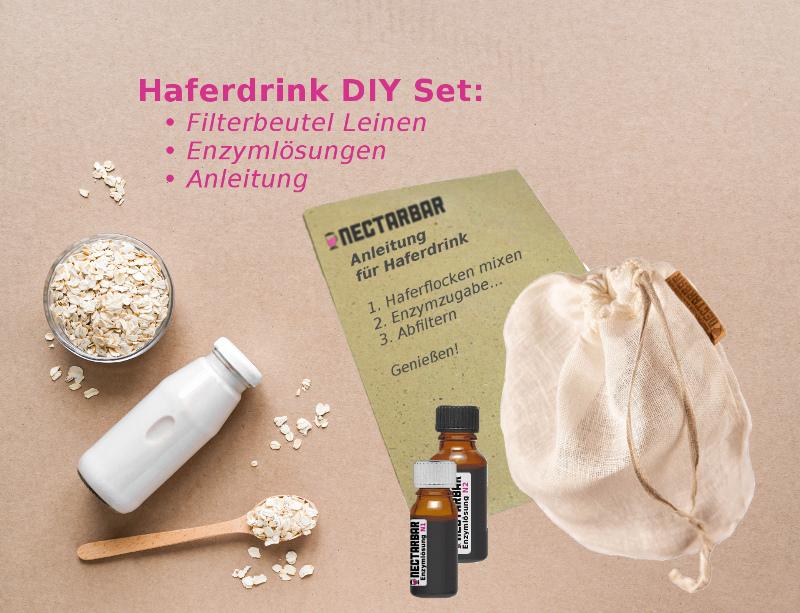 Set Anleitung Hafermilch, Enzyme und Filterbeutel