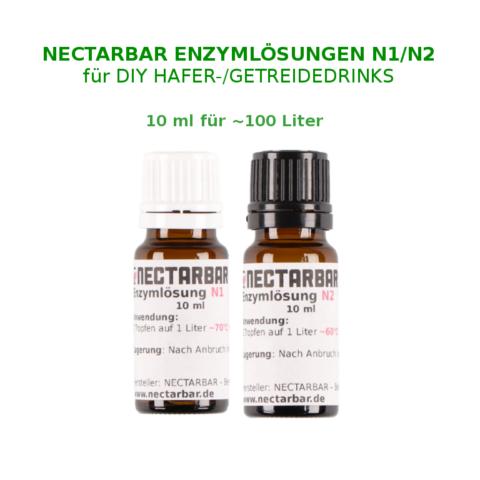 Haferdrink-Enzym Set 10 ml für 100 Liter Hafermilch