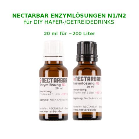 Haferdrink-Enzym Set 20 ml für 200 Liter Hafermilch