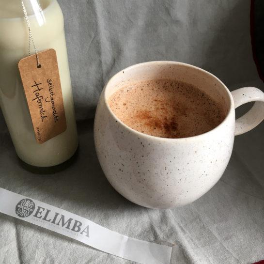 Hafermilch mit Elimba Kakao