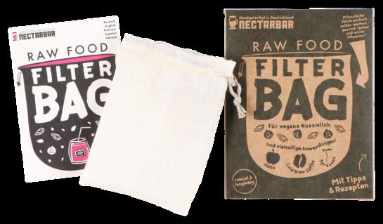 Raw Food Filter Bag aus Leinen mit Anleitung