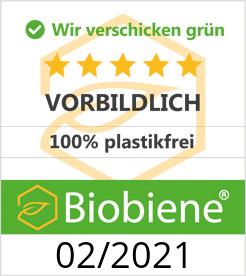 Siegel 100% Plastikfrei für NECTARBAR durch BioBiene